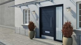 Auvent de porte design